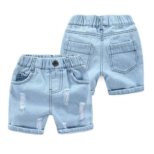 New Boys Summer Denim Shorts Casual Kids Elastic Waist Cotton Short For Boy Children Beach Trousers Toddler Baby School Clothes