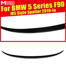 купить F90 Rear Spoiler Boot lip Wing Tail AEM5-Style Carbon Fiber For 5-Series M5 F90 Rear Trunk Spoiler Wing Lip Auto Car Styling 19+ онлайн