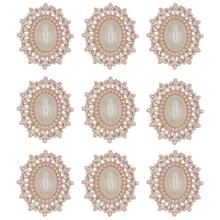 Rhinestone Decorative Buttons Handmade Flatback Metal Pearl Button Embellishment For Sewing And Crafts Accessories