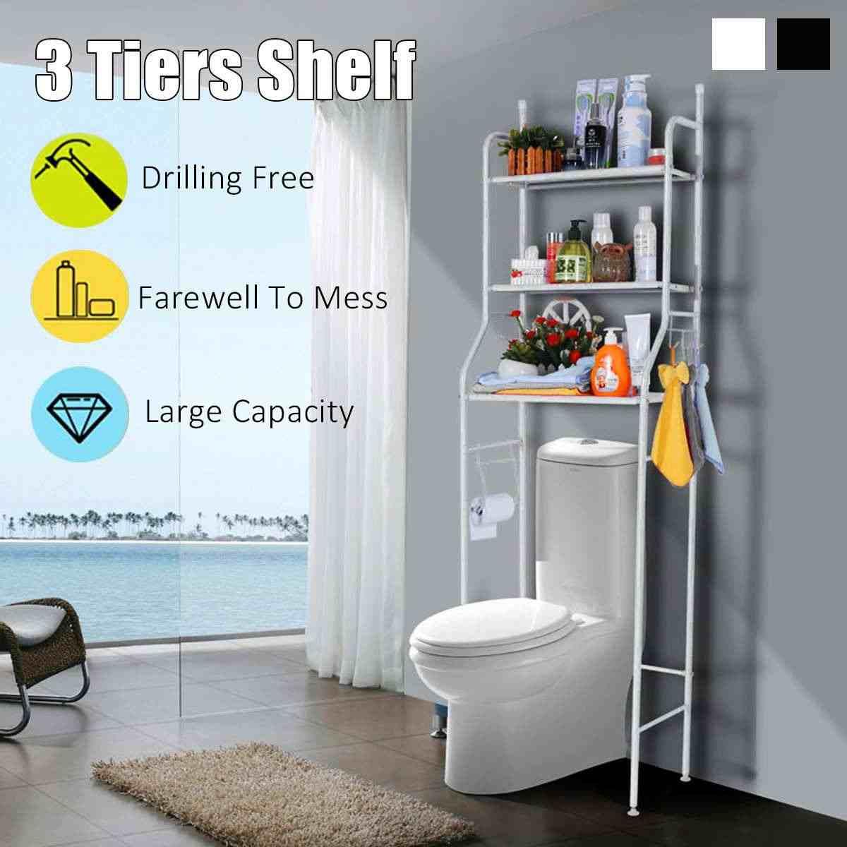 3 Tier półka ponad strona główna kuchnia łazienka stojak do przechowywania wielofunkcyjny zestaw kosmetyków półki do łazienki organizator akcesoria