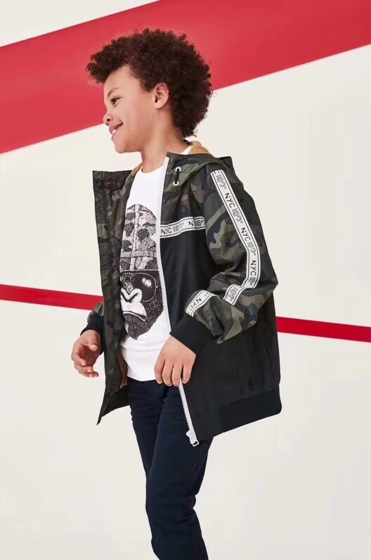 Britain 2019 Spring Autumn Jackets for Boy Coat Bomber Jacket Army Green Boy's Windbreaker Winter Kids Children solid Outerwear