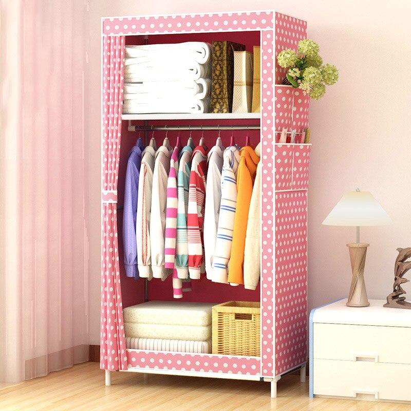 Assemblage Simple Non-tissé tissu artisanat Simple placard vêtements finition armoire de rangement armoire organisateur JC017