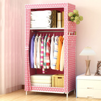 Simple Assembly Non woven fabric craft Single Closet Clothes Finishing Storage Cabinet Wardrobe Organizer JC017