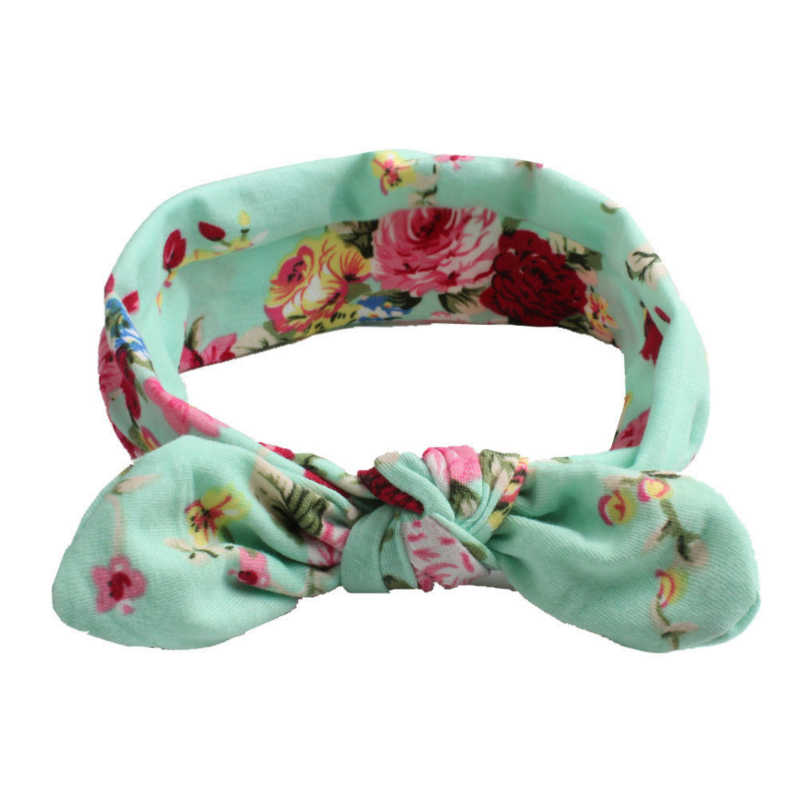 8 Colors Available Baby Headband Newborn Girl Floral Print Bow Knot Baby Hair Accessories Infant Toddler Baby Girl Headbands