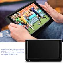 LEADSTAR ISDB-T 10.1 Inch 16:9 Portable TFT-LED Digital Analog Color TV Television Player for EU Plug 2019 Hot sale(China)