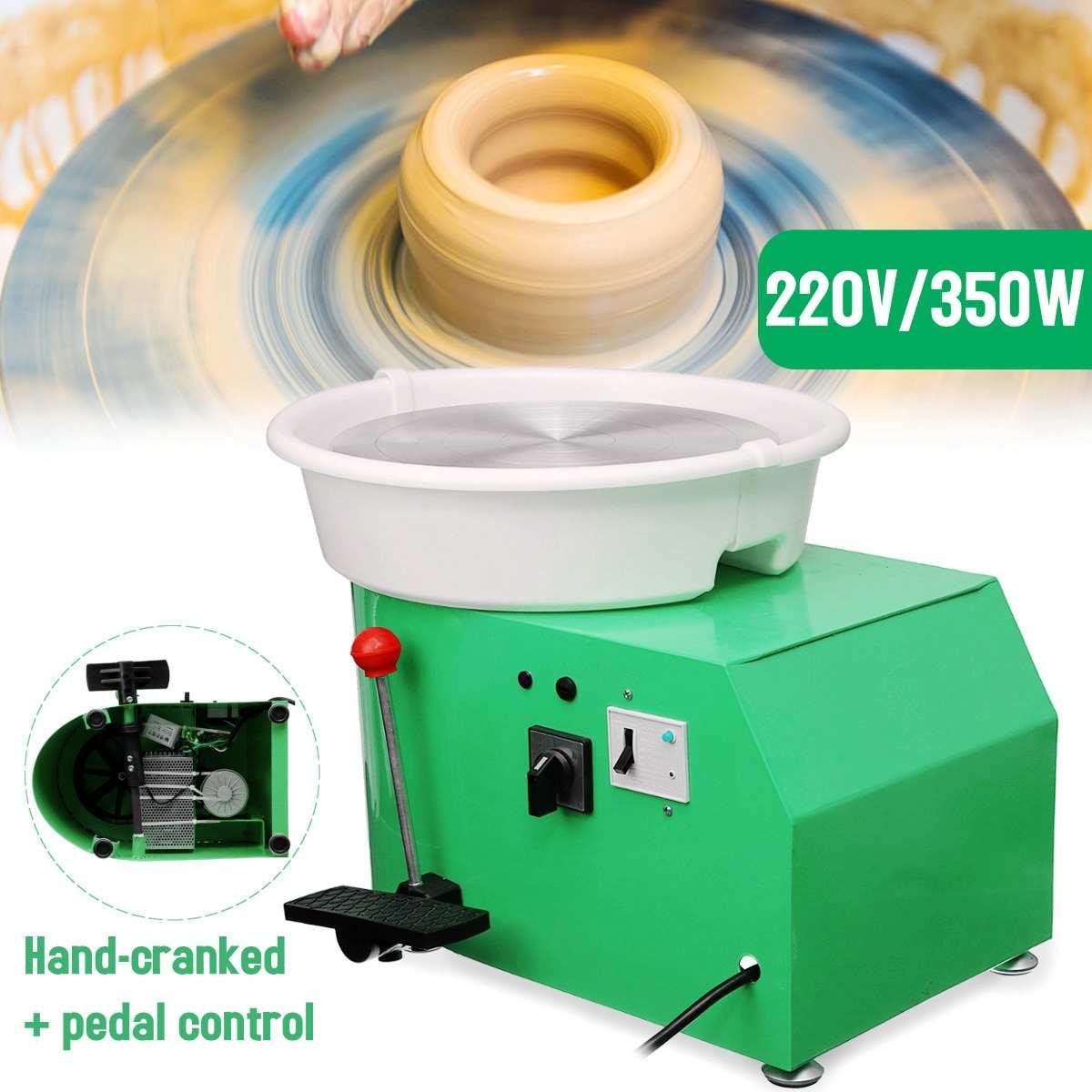 220 V 350 W Électrique Poterie Roue En Céramique Machine 300mm argile céramique Potter Kit Pour Travail En Céramique Céramique - 6