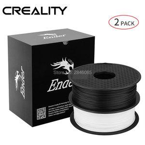 Image 2 - CREALITY 3D Принтер Нити Ender бренд белый/черный цвет нити 2 кг/лот высокое качество PLA 1,75 мм для 3D принтера печати