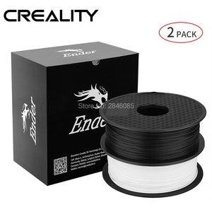 Image 2 - Creality 3D Printer Filament Ender Merk Wit/Zwarte Kleur Gloeidraad 2 Kg/partij Hoge Kwaliteit Pla 1.75 Mm Voor 3D printer Afdrukken