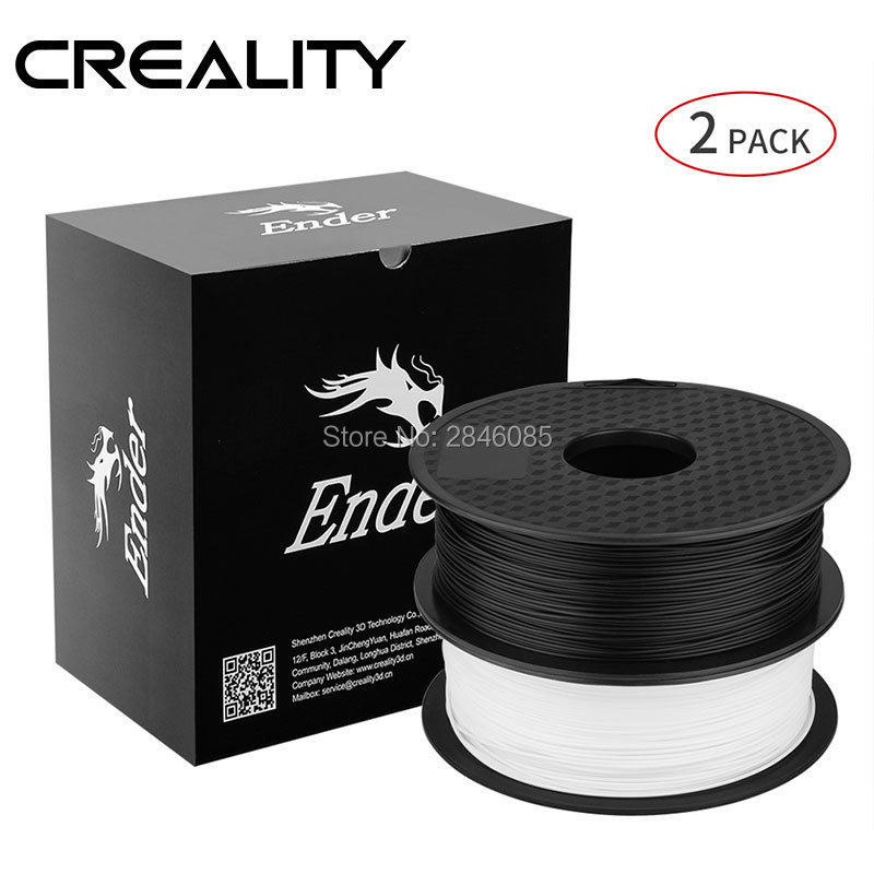 Image 2 - Ender 3D Printer Filament White+Black Color Filament 2KG/Lot High Quality PLA 1.75mm For 3D Printer Printingl-in 3D Printing Materials from Computer & Office