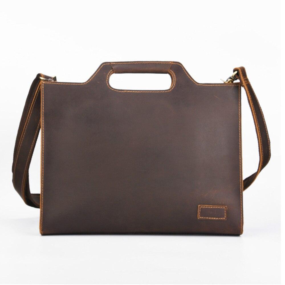 2019 nouvelle mallette en cuir véritable pour hommes sacs à main fourre-tout pour hommes en cuir de vachette sac à bandoulière à bandoulière Bolso Hombre