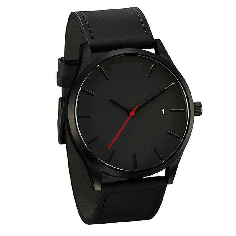 HobbyLane جديد ساعة ذكية هدايا حزام جلدي أنيق التناظرية جولة ساعة معصم ساعة الحد الأدنى نمط الأعمال الذكور الإناث d20