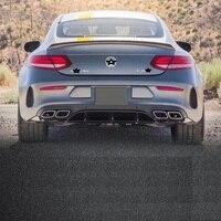 Изменения Авто тюнинговые молдинги автомобильной Запчасти задний диффузор спереди губ настройки автомобильные бамперы для Mercedes Benz C Class
