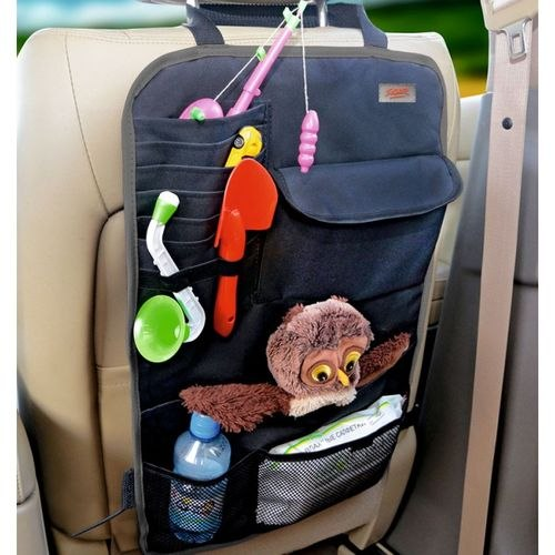 Organizer on seat back Siger ORG-2 with fabric pockets (ORGS0102) protective cover for the seat back siger safe 2 without pockets kidstravel