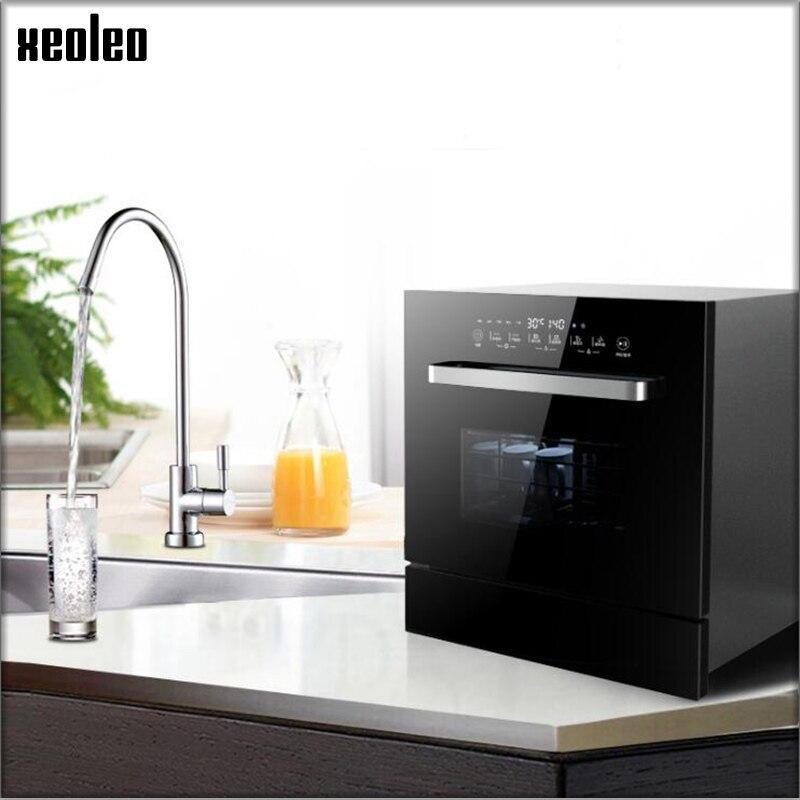 XEOLEO Automatic Dishwasher 8 Set Dish Washers Embedded Sterilization Dryer Intelligent Brush Bowl To Remove Bacteria Drying