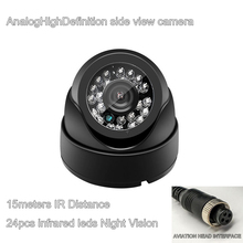 720P AHD Camera CMOS Sensor 24pcs infrared leds Night Vision for Car Truck Side view