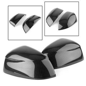 Pintu Mobil Sisi Belakang Kaca Spion Cover Protector Trim untuk BMW X3 G01 2018 2 Pcs Carbon Fiber ABS plastik