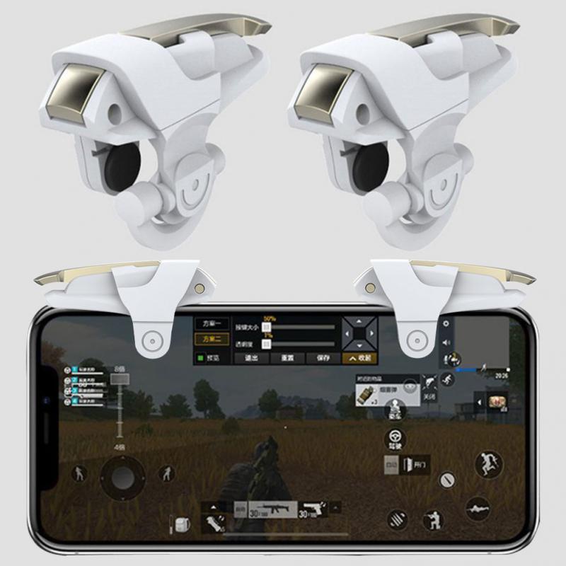 Image 4 - 1 пара игровой кнопочный джойстик для мобильного телефона, стрелок, кнопка огня, ручка для PUBG/правила выживания #1102-in Геймпады from Бытовая электроника