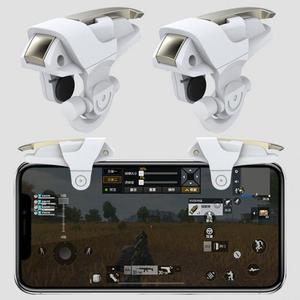 Image 4 - 1Pair Del Telefono Mobile Gaming Controller Trigger Shooter Pulsante di Fuoco Maniglia Per PUBG/Regole Di Sopravvivenza #1102