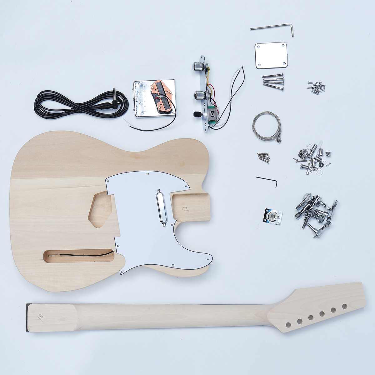 Hêtre Bois bricolage Électrique Guitare Accessoires Kit Corps Manche Érable 6 instrument à cordes Guitare Accessoires Pièces de Rechange