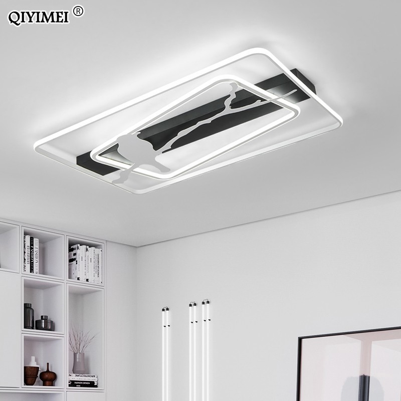 Modern led Ceiling lights for living room study room bedroom lighting white/Black/white and black surface mounted Remote controlModern led Ceiling lights for living room study room bedroom lighting white/Black/white and black surface mounted Remote control