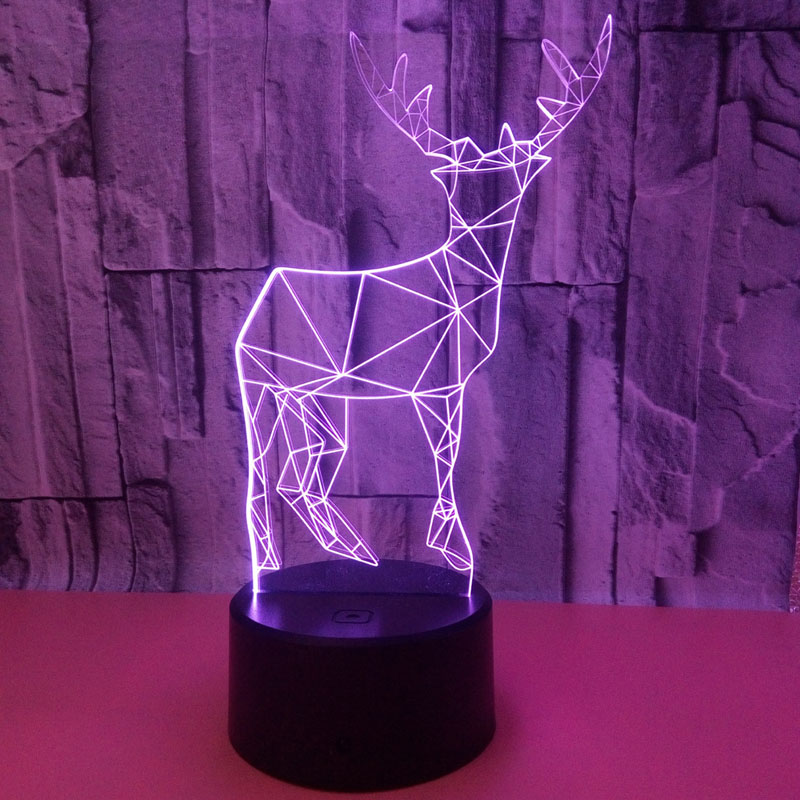 YIMIA Novelty Gift USB 7 Colors Changing Wapiti Deer Model LED Night Light 3D Table Desk Touch Lamp Children GiftYIMIA Novelty Gift USB 7 Colors Changing Wapiti Deer Model LED Night Light 3D Table Desk Touch Lamp Children Gift