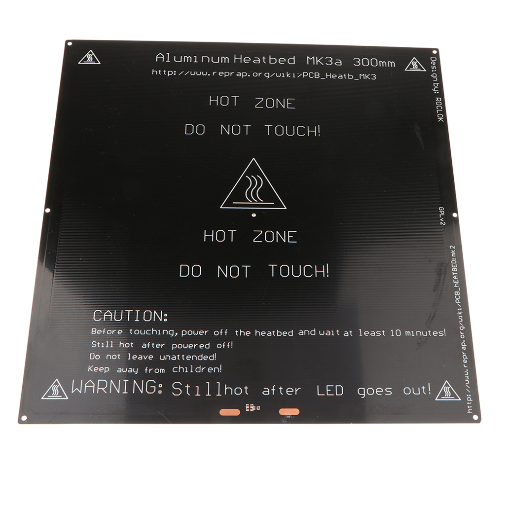 Dovewill Heated Bed 300x300 Aluminium PCB Heatbed 12v 24v Heat Bed For MK3 3D Printer Hot Bed Aluminum Substrate Heated Bed