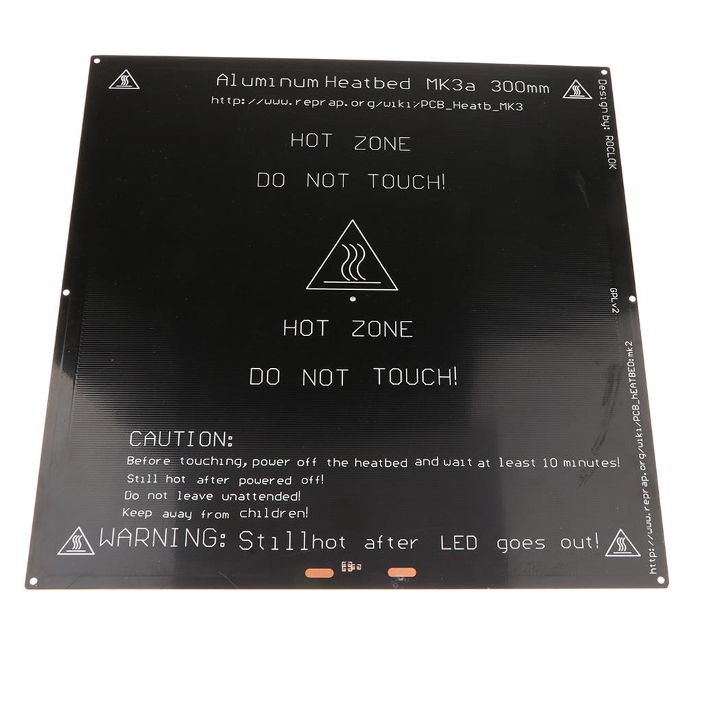 Dovewill Heated Bed 300x300 Aluminium PCB Heatbed 12v 24v Heat bed for MK3 3D Printer mk3 heated bed 12v 24v black parts heatbed hot hotbed 3d printers part heat 220x220 aluminum plate 3mm pcb accessories