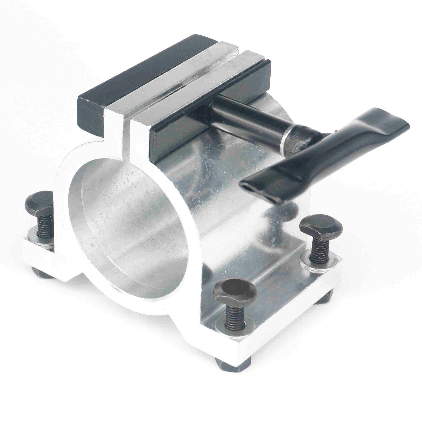 65mm Diameter Silvery Aluminum CNC Spindle Motor Holder Mount Bracket Clamp  Cast Adjustable Handle Engraving Machine