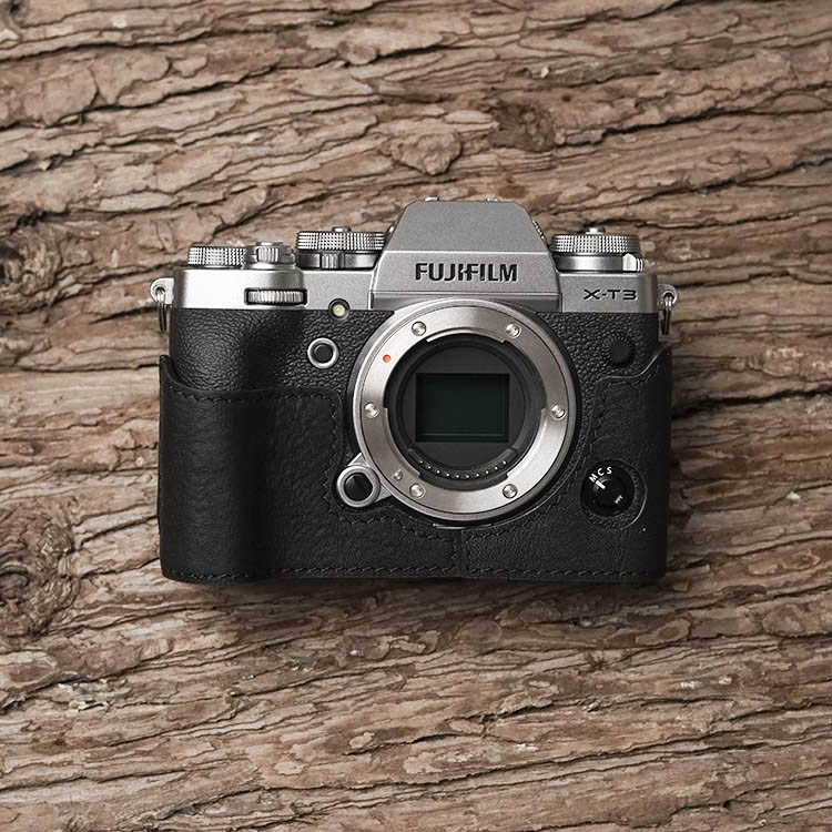 Mr Stone Brand Handmade Genuine Leather Camera Case Bag Half Body Camera For Fujifilm XT3 FUJI