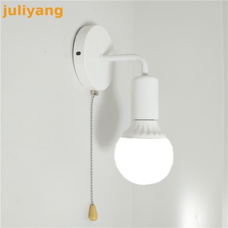 Modern Simple Nordic Switch Wall Lamp Personality Creative Iron Corridor Bedside Bathroom Aisle Energy Saving Staircase Lights