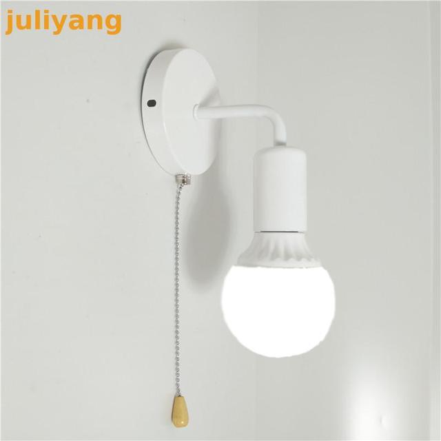 Modern simple Nordic switch wall lamp personality creative iron corridor bedside bathroom aisle energy saving staircase lights 1