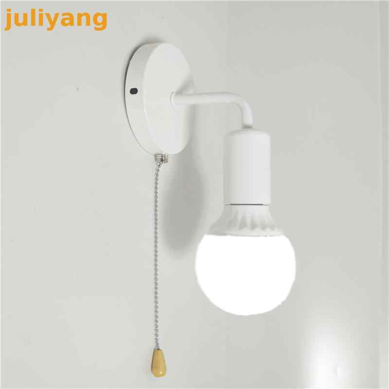 Modern simple Nordic wall lamp personality creative iron corridor bedside bathroom aisle energy saving staircase lights