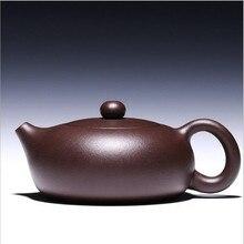 240CC качество аутентичный Исин чайник мастер ручной работы китайский здоровье Фиолетовый Глиняный чайный набор кунг-фу XiShi горшок Многофункциональный выбор