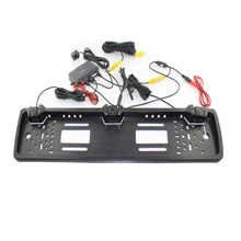 New European License Plate Rearview System Video Parking Sensor Reversing Radar with HD Rear View Backup Camera No Drill Holes 4 3 inch lcd car rearview mirror monitor video parking 3in1 video parking assistance sensor backup radar with rear view camera
