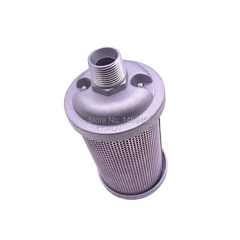 Livraison gratuite 2 pcs/lot XY-07 DN20 filtre d'échappement industriel silencieux silencieux pour compresseur d'air sécheur d'adsorption