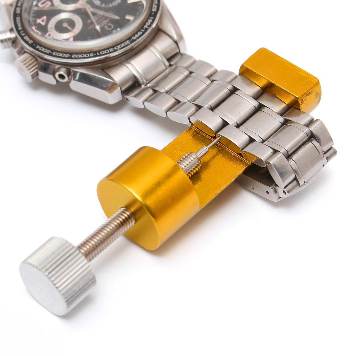 Watch Repair Tool Kit Golden Watch Tools Adjust Watch Bracelet Tool Watch Band Repair Link Pin Remover horloge gereedschap