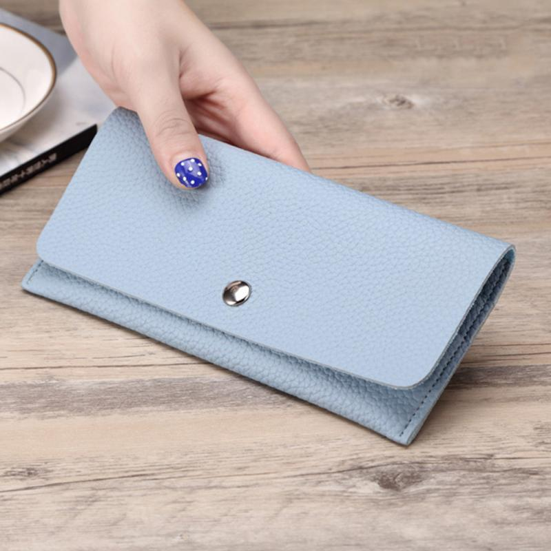 Girl Wallet Slim PU Leather Wallet Women Clutch Bag Lady Phone Cards Holder Candy Color Small Handbag Purse Wallet 2