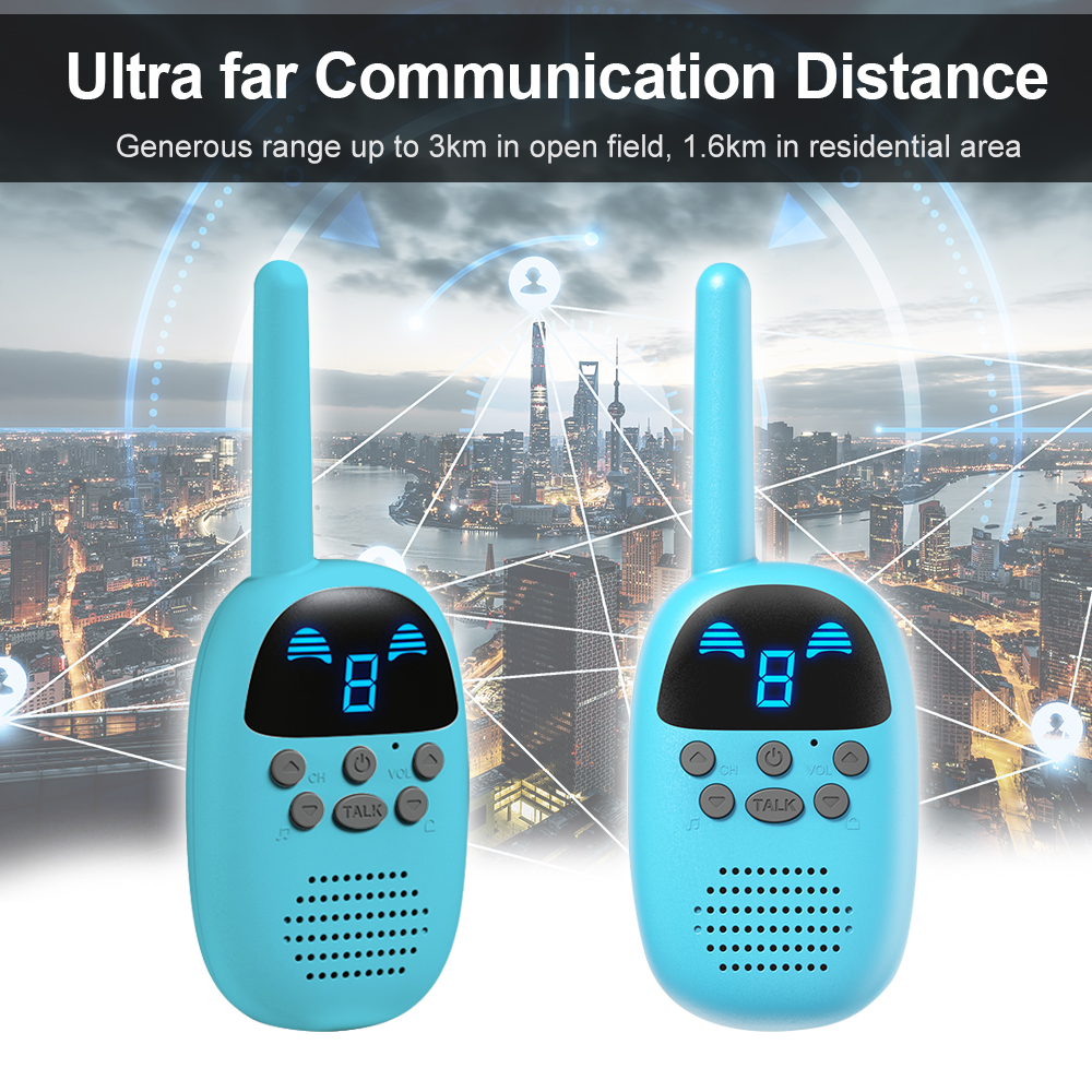 Cellphones & Telecommunications 1pair Kids Walkie Talkies Parenting Game Mobile Phone Intercom Talking Toy 9 Channel 1.6-3km Long Range Lcd Screen Two Way Radio Strengthening Waist And Sinews