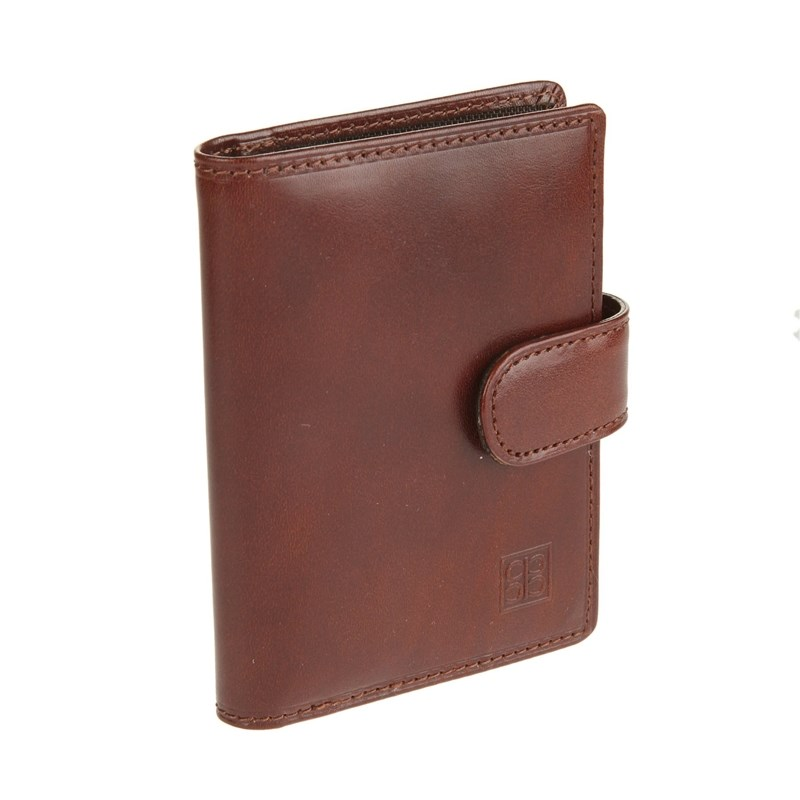 Business Card Holder Sergio Belotti 2466 Milano Brown large capacity card holder multifunctional wallet