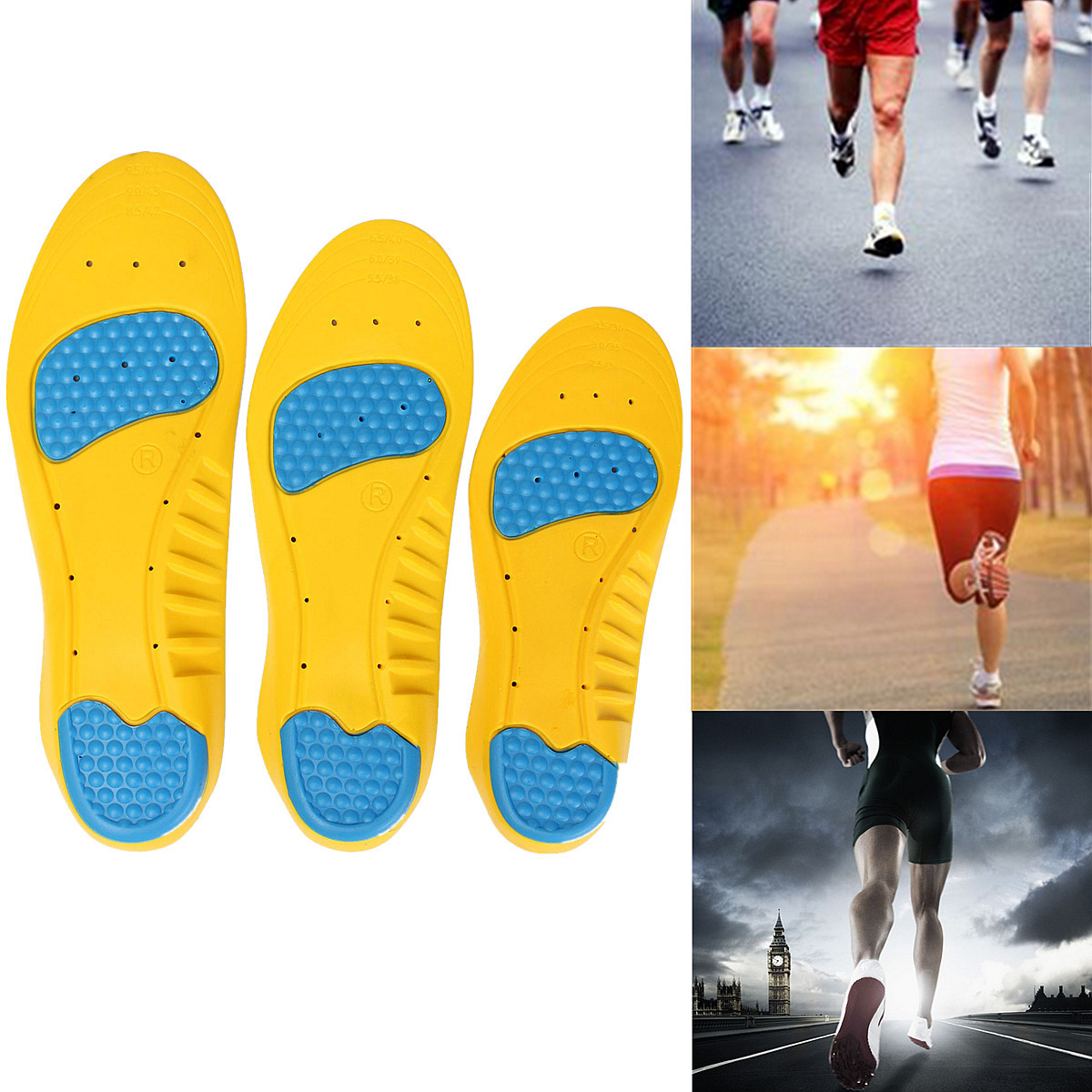 Super Memory Foam Orthotics Arch Pain Relief Support Shoe Insoles Insert Pads
