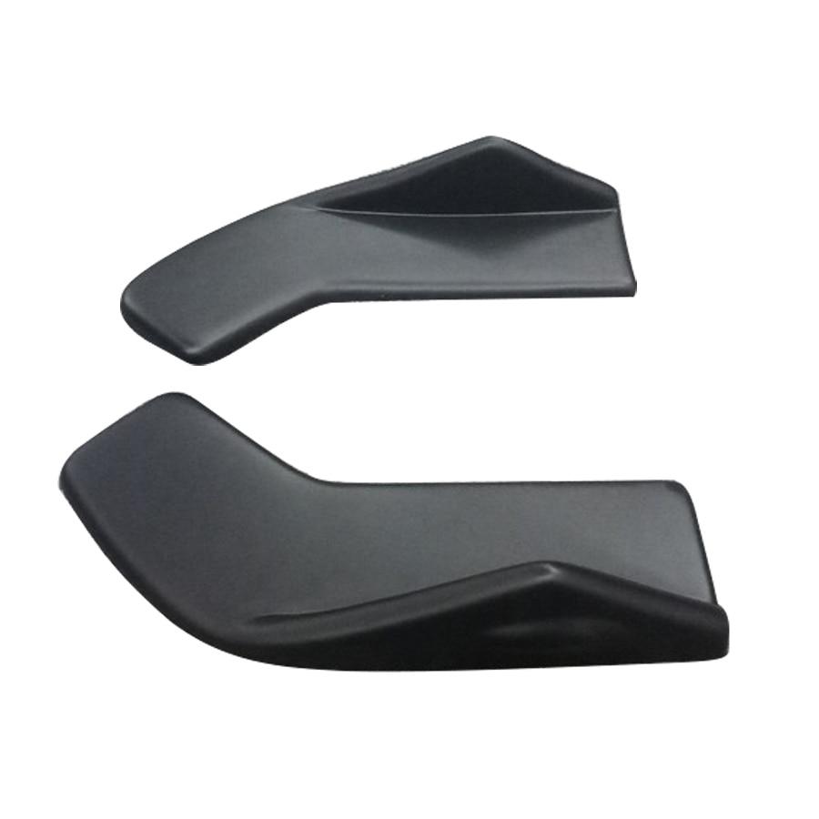 2Pcs Universal Car Bumper Spoiler Rear lip Canard Diffuser Front/ Rear Wrap Angle Shovel Decorative Scratch Resistant