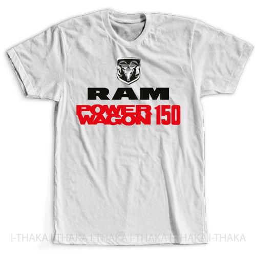Newest 2019 Men's Fashion Print T-Shirt 100% cotton Men Hot Sale Summer Style Ram Power Wagon 1500 Car Fans New Tee Shirt Homme