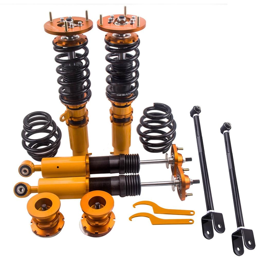 For BMW 3 series 1999-2005 E46 Coilover Suspension Kit for 320i/323i/325i/328i/330i/M3 Damper Struts Shock Absorber Control arm