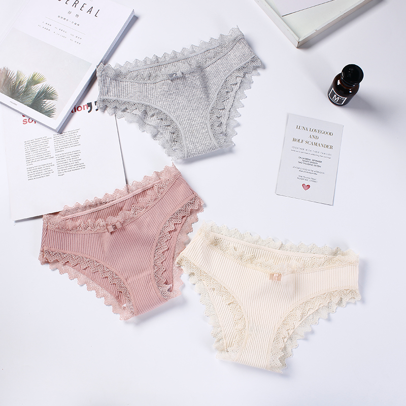 3Pcs/lot Seamless   Panty   Set Underwear Female Comfort Intimates Fashion Female Sexy Low-Rise Briefs Lingerie Drop Shipping #D