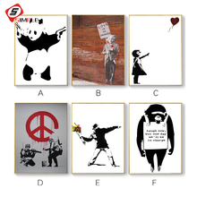Unframe Canvas Print Girl with Balloon Original Wall Art Banksy Graffiti Street wall picture Painting For Living Room