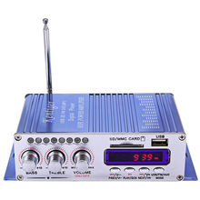 Mini Digital Audio Amplifier Bluetooth HiFi Stereo Audio Output Power Amplifier with Remote Controller