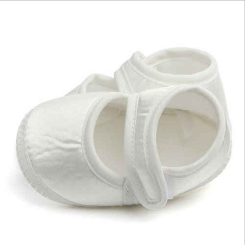 Infant White First Walker Toddler Baby Girls Shoes Casual Newborn Soft Sole Sneaker Crib White Shoes For 0-6month