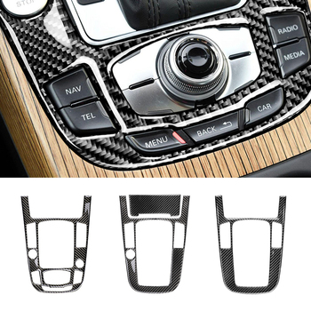1pc car gear shift panel sticker automotive car carbon fiber styling decorative durable decal for audi a4l q5 a5 For Audi A4L A5 2009 2010 2011 2012 2013 2014 2015 2016/ Q5 2010 - 2018 Carbon Fiber Center Console Gear Shift Panel Cover Trim
