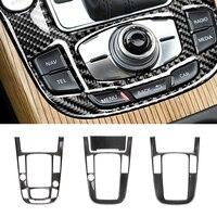 Para Audi A4L A5 2009 2010 2011 2012 2013 2014 2015 2016/ Q5 2010 - 2018 Carbon Fiber Center Console do Deslocamento de Engrenagem Tampa Do Painel de Guarnição