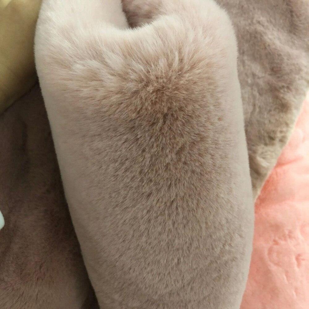 Nueva llegada 1550 g/metro 180 cm de ancho imita el pelo de Rex conejo 25mm de longitud de la pila tela de felpa súper suave de alta calidad-in Tela from Hogar y Mascotas    1
